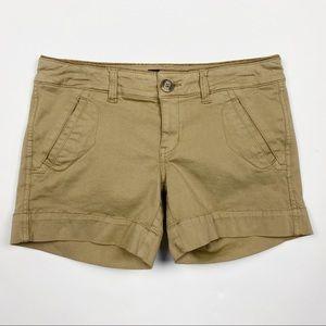 AMERICAN EAGLE Stretch Khaki Chino Shorts